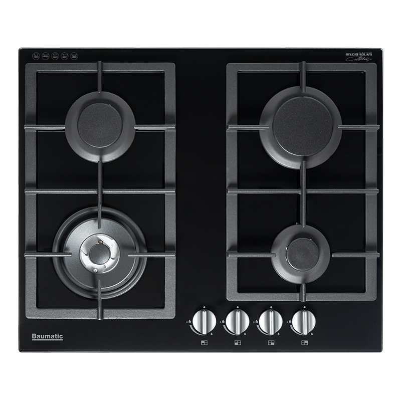 Studio Solari 60cm Gas Cooktop Bsgh64 Baumatic